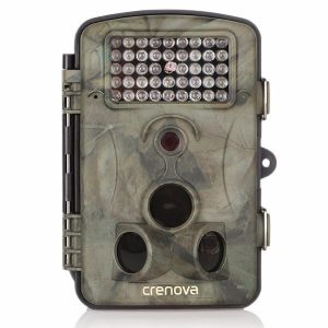 Crenova Game and Trail Hunting Camera 12MP 1080P HD With Time Lapse 65ft 120° Wide Angle Infrared Night Vision 42pcs IR LEDs 2.4 LCD Screen Scouting Camera Digital Surveillance Camera