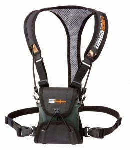 S4Gear LockDown Binocular Harness (Black) for use with binoculars by Leupold,Nikon,Swarovski,Bushnell,Canon etc